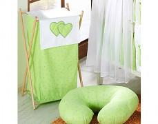 Koš na prádlo zelená květinka