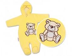 Kombinéza žlutý Teddy Bear, velurová