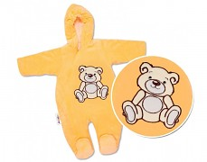 Kombinéza oranžový Teddy Bear, velurová
