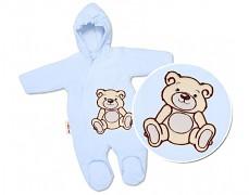 Kombinéza modrý Teddy Bear, velurová