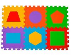 Pěnové puzzle -tvary 6ks