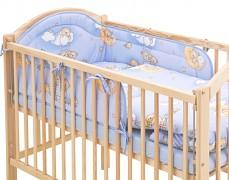 Souprava do postýlky 3dílná modrá se spícími medvídky