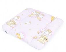 Přebalovací podložka růžová se spícími medvídky