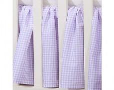 Volánek pod matraci fialové kostičky