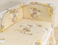 Mantinel béžový se spícími medvídky