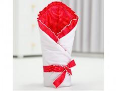 Zavinovačka bílá, červený puntík