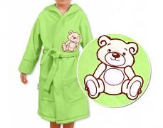 Dětský župan zelený Teddy Bear