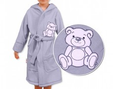 Dětský župan šedý Teddy Bear