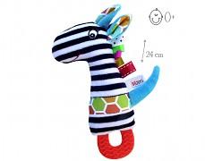Zebra s pískátkem a kousátkem