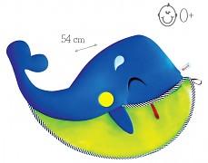Síťka na hračky s přísavkou, velryba