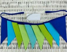 Girlanda zeleno-modrý ZigZag
