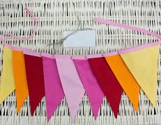 Girlanda růžovo-žlutý ZigZag