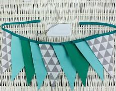 Girlanda zelená trojúhelník