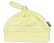 Čepička žlutá s uzlíkem
