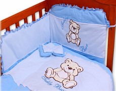 Dětské povlečení modrá Teddy Bear