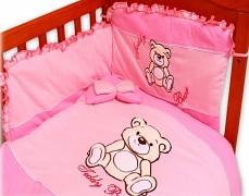 Dětské povlečení růžová Teddy Bear