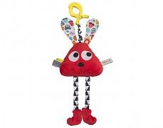Plyšová hračka s klipem červená