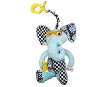 Plyšová hračka modrý sloník s klipem