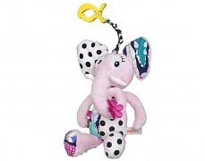 Plyšová hračka růžový sloník s klipem