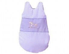 Dětský spací pytel fialový zajíček