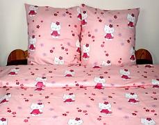 Dětské povlečení růžová Kitty 140x200