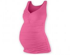 Těhotenské růžové tílko