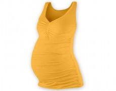 Těhotenské žlutooranžové tílko