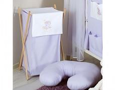 Koš na prádlo fialová obláček