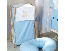 Koš na prádlo modrá obláček
