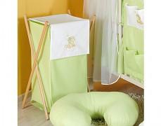 Koš na prádlo zelená obláček