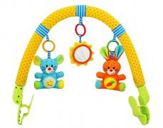Oblouk s hračkami sluníčko, myška a králík