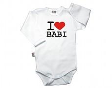 Body bílé I ♥ BABI dl.rukáv vel.62