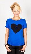 Těhotenské triko modré se srdcem