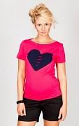 Těhotenské triko růžové se srdcem