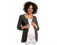 Těhotenský khaki svetříkový kabátek
