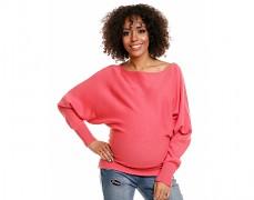 Těhotenský růžový svetřík