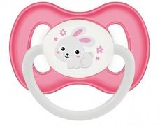 Dudlík růžový Bunny & Company kaučukový
