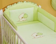 Dětské povlečení zelený medvídek Love