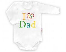 Body bílé  I ♥ Dad dl.rukáv