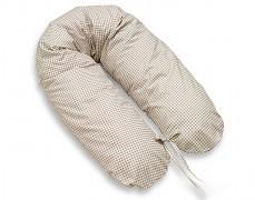 Relaxační polštář hnědý s kostičkou