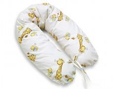 Relaxační polštář žlutý s žirafkou
