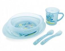Dětská sada nádobí modrá Sova