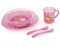 Dětská sada nádobí růžová Sova