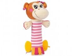 Plyšové chrastítko růžová opička Piráti
