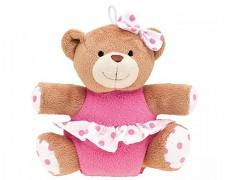 Plyšový medvídek růžový pískací