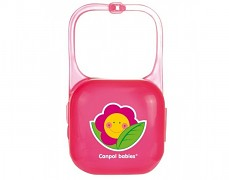 Pouzdro na šidítko růžové Happy Garden