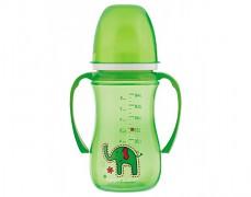 Hrníček nevylévací zelený Colorful Animals 240ml
