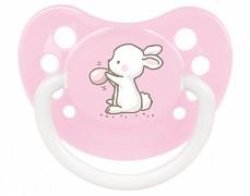 Kojenecké šidítko růžové Little Cutie silikonové
