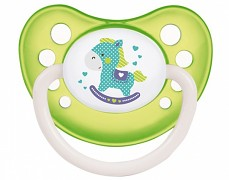Dudlík zelený TOYS kaučukový