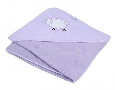 Osuška s kapucí fialová Fluffy